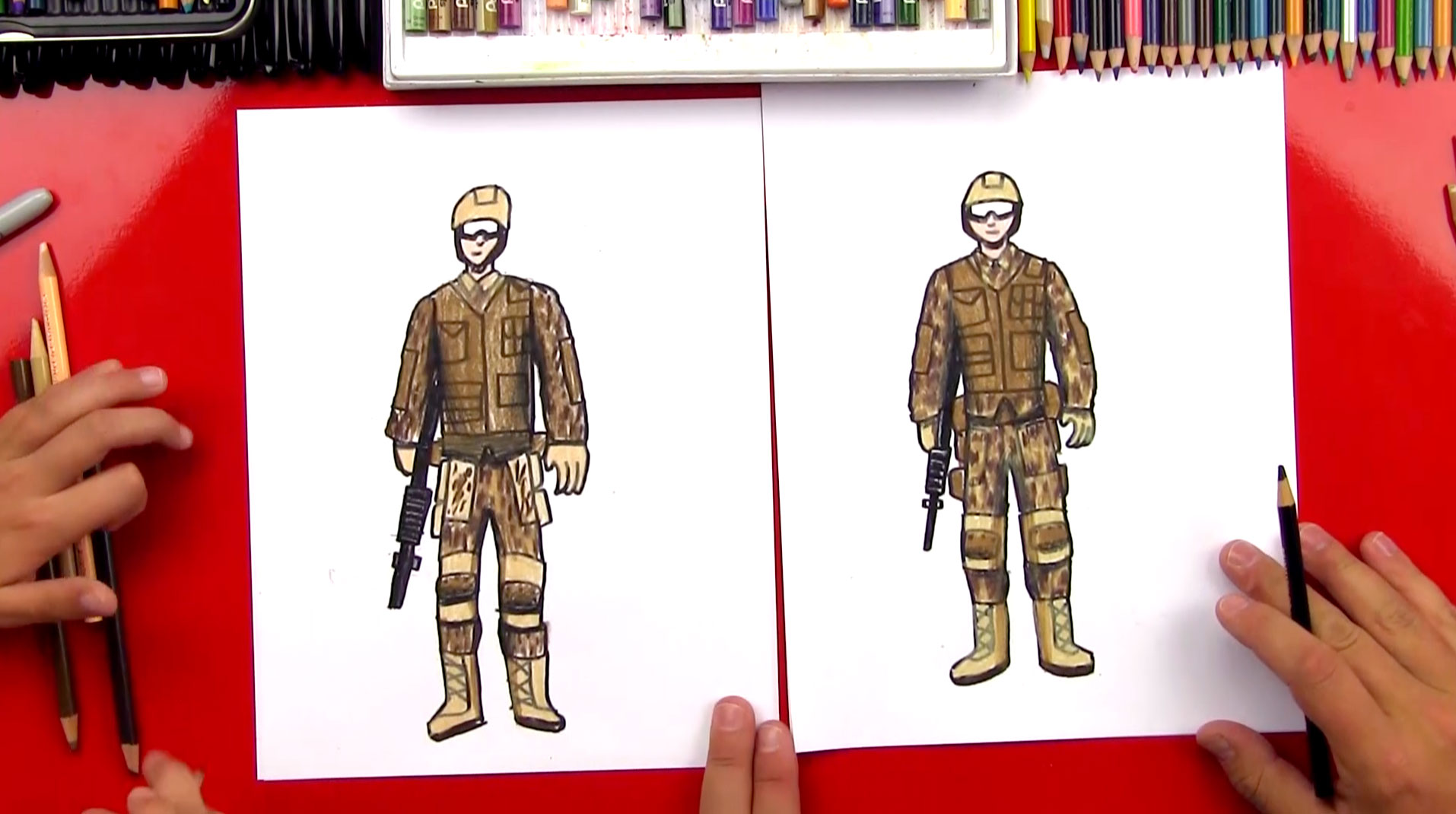 How To Draw A Soldier Art For Kids Hub
