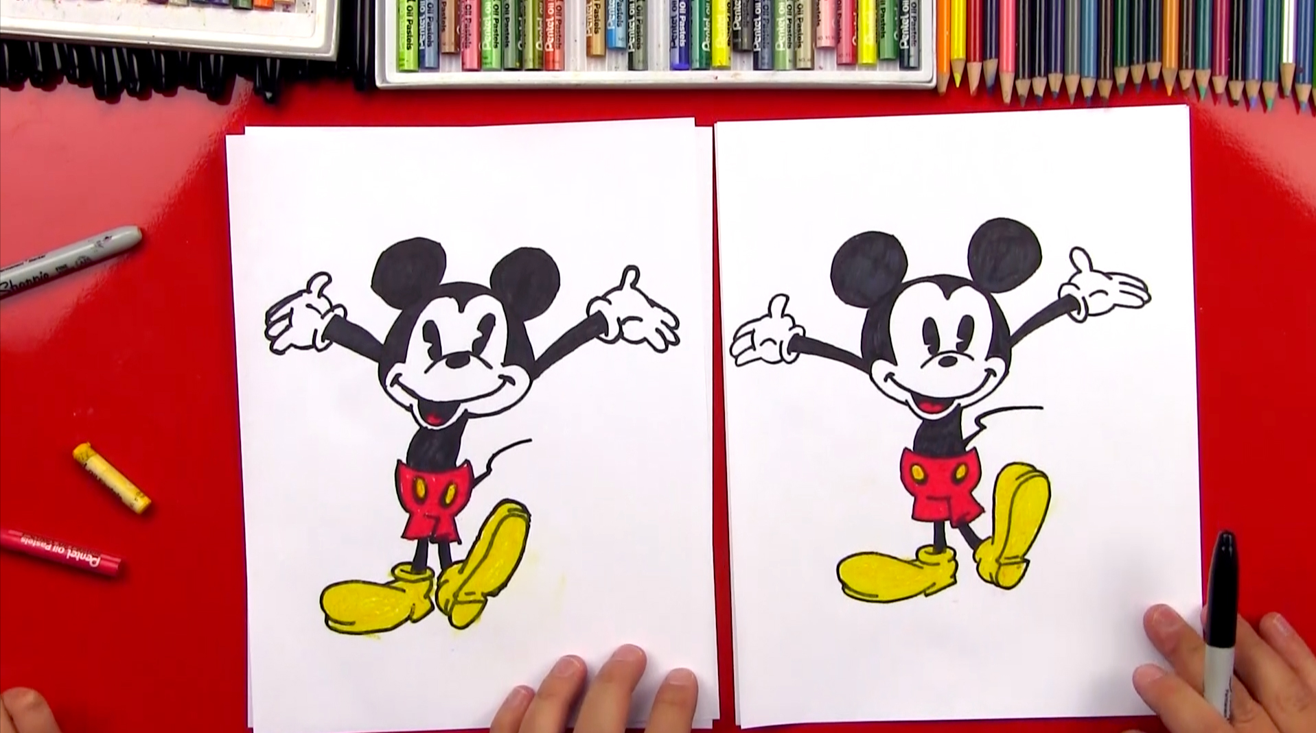 How to draw old fashioned mickey mouse step by Toon Trading according to Wingnut - m