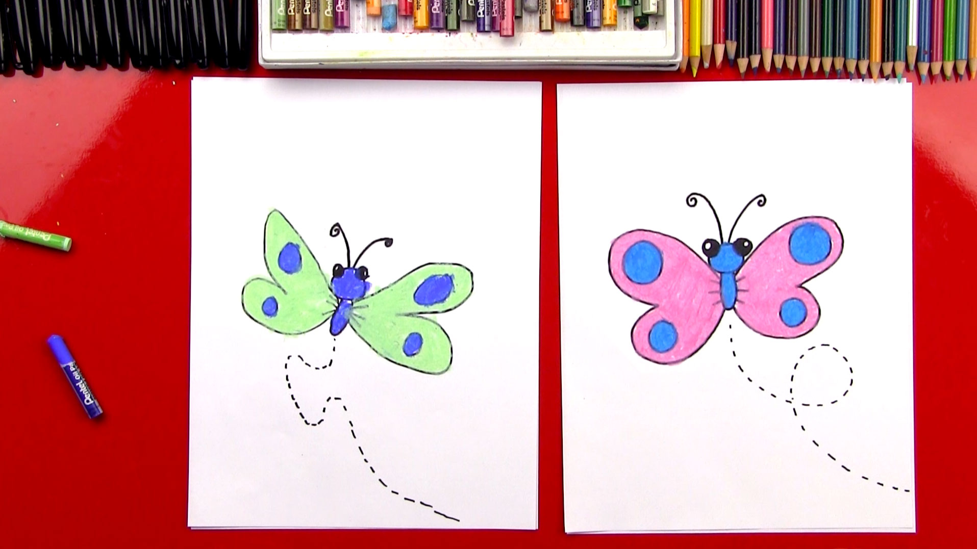 How To Draw A Cartoon Butterfly Art For Kids Hub