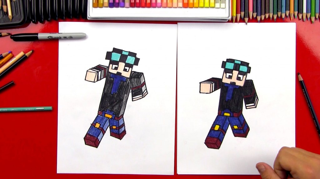 How To Draw Dan From The Diamond Minecart