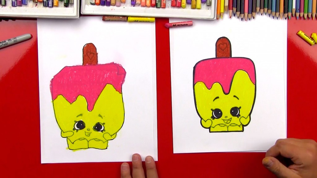 How To Draw Popsicle Shopkins