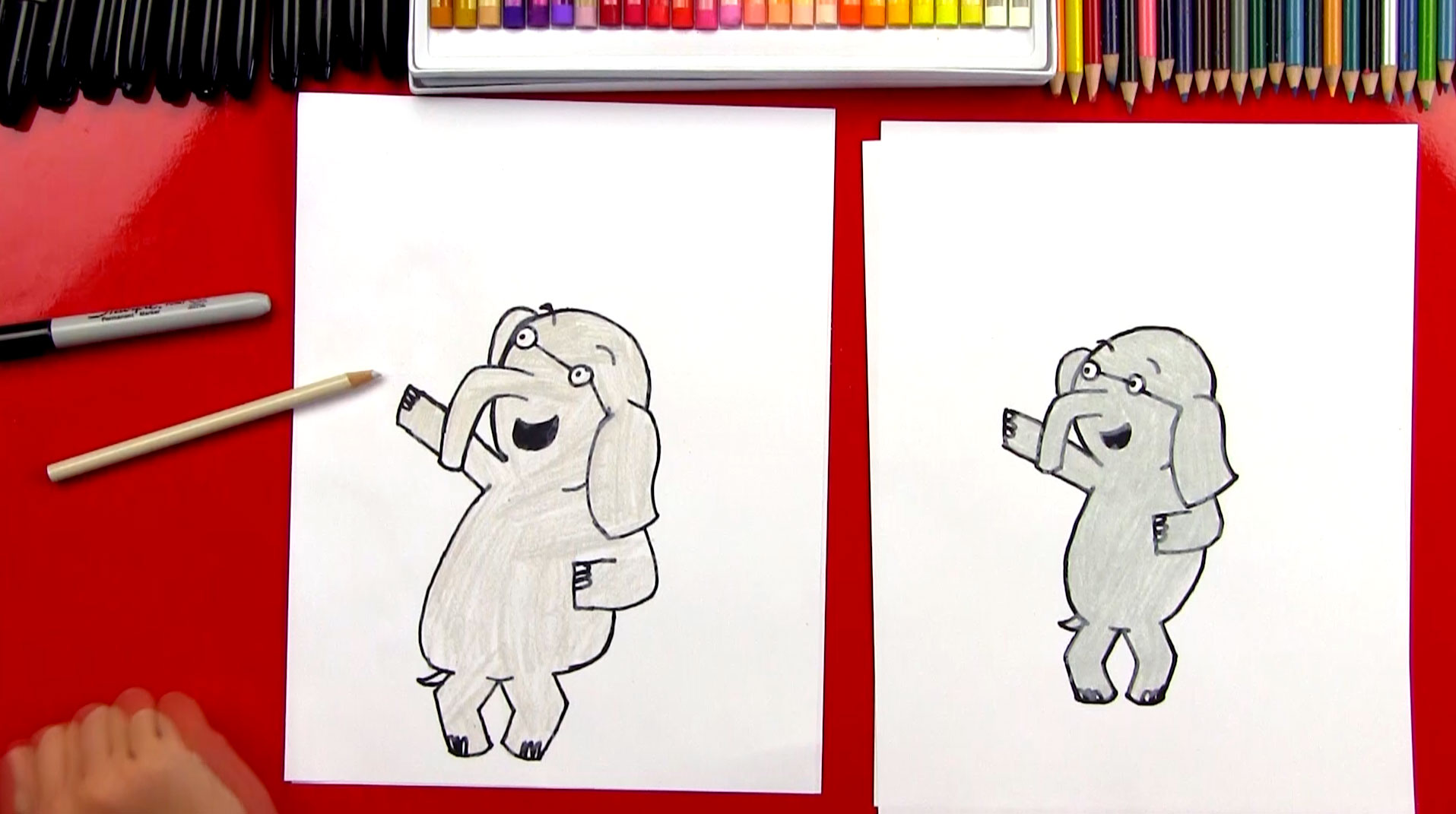 How to draw gerald art for kids hub