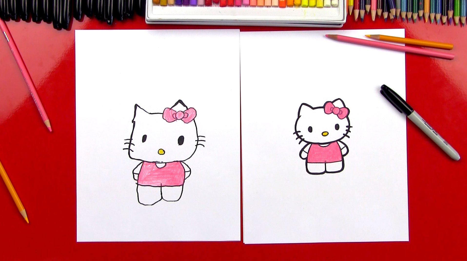 How To Draw Hello Kitty Art For Kids Hub