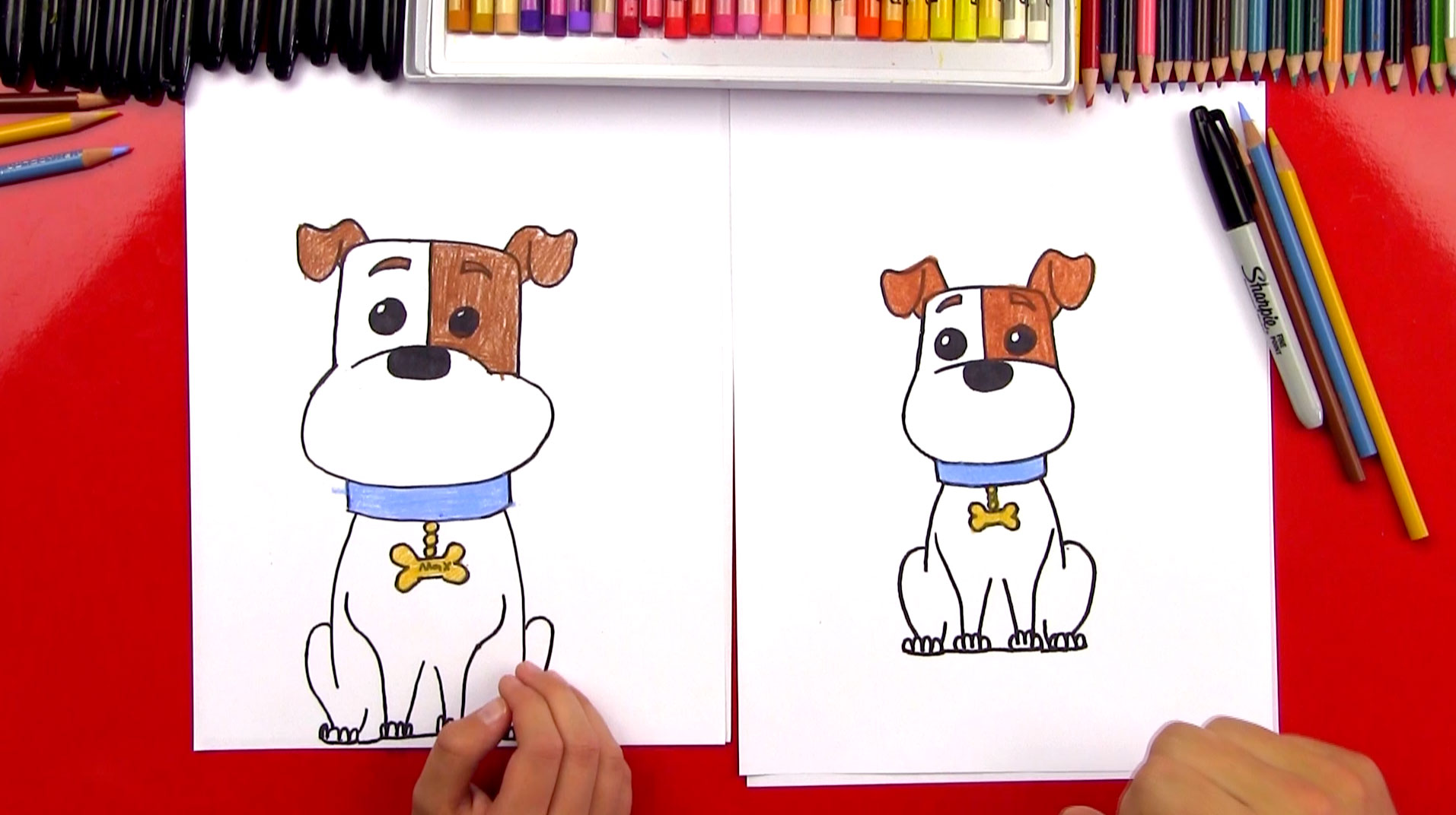 How To Draw Max From The Secret Life Of Pets - Art For Kids Hub -