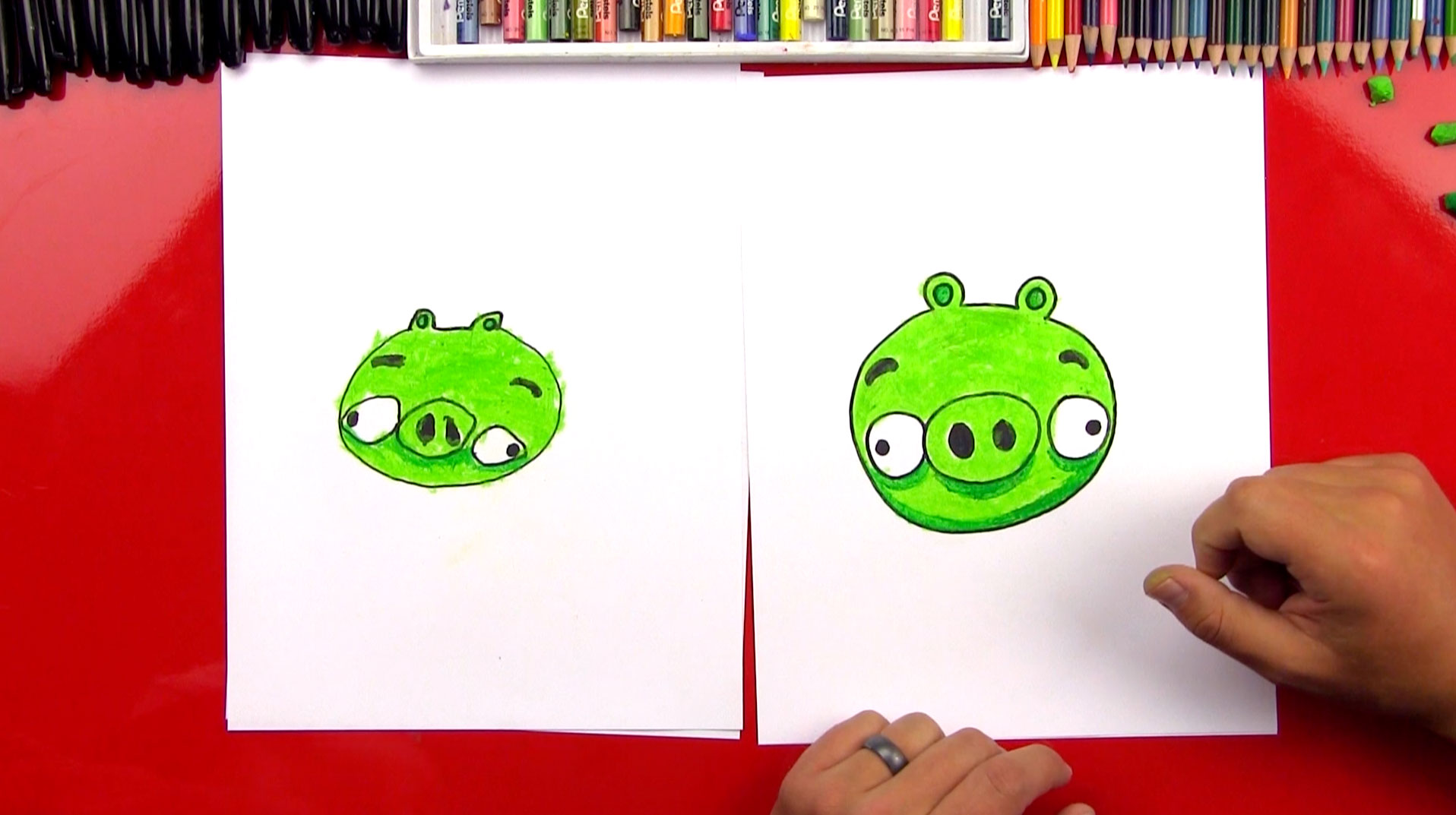 How To Draw A Minion Pig From Angry Birds Art For Kids Hub