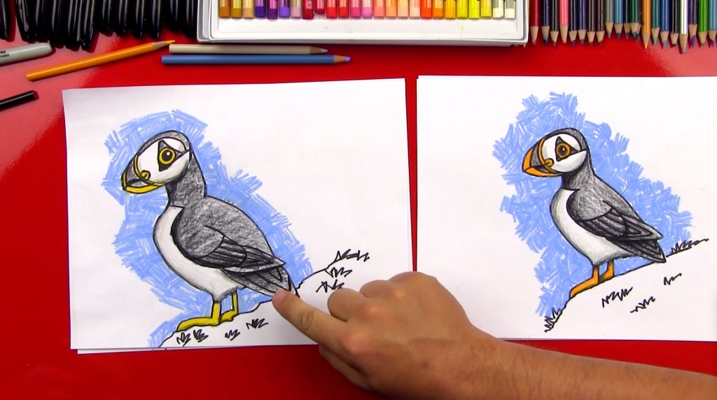 How To Draw A Realistic Puffin (Art Club Members)