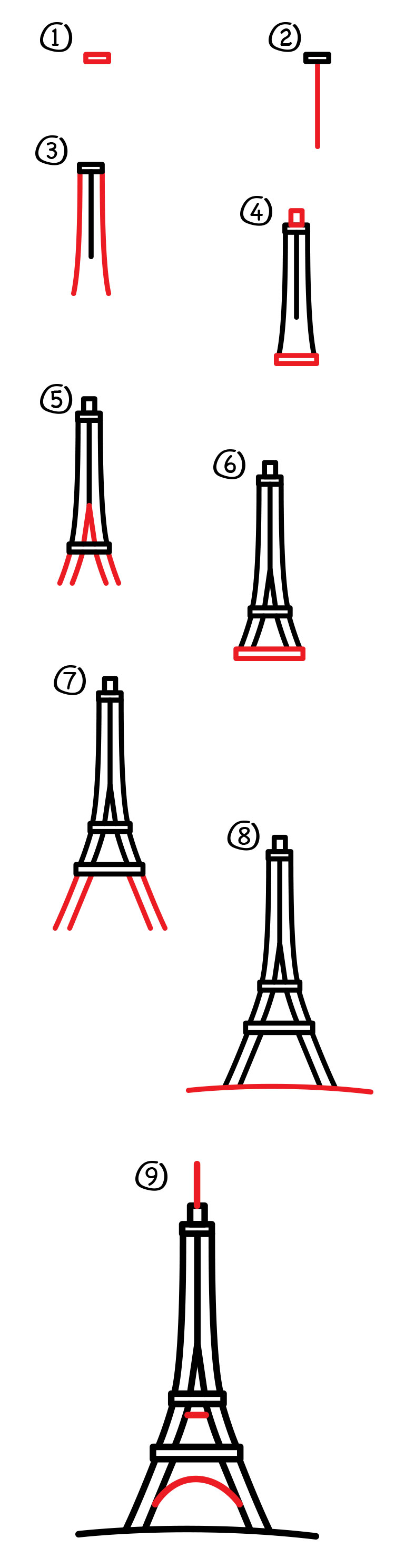 How to draw the eiffel tower art for kids hub thecheapjerseys Gallery