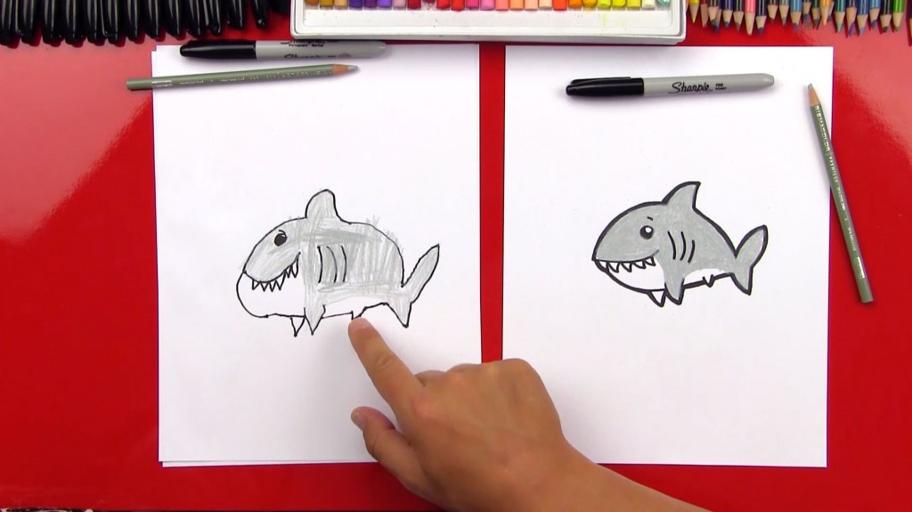 How To Draw A Cartoon Shark (Art Club Members)