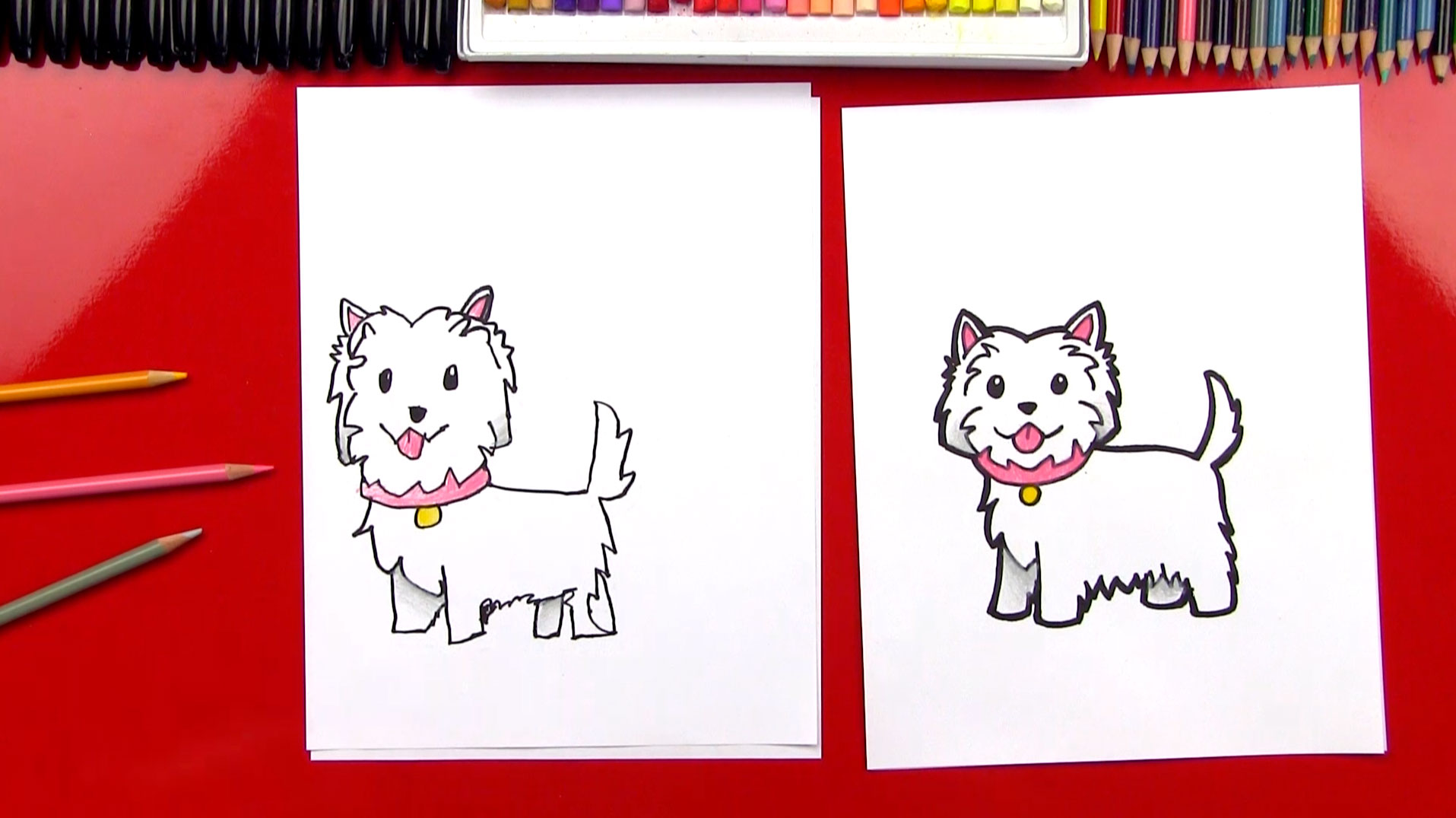 How To Draw A Cartoon Westie Art For Kids Hub