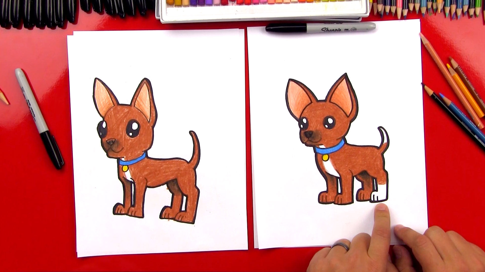 how to draw a chihuahua art for kids hub