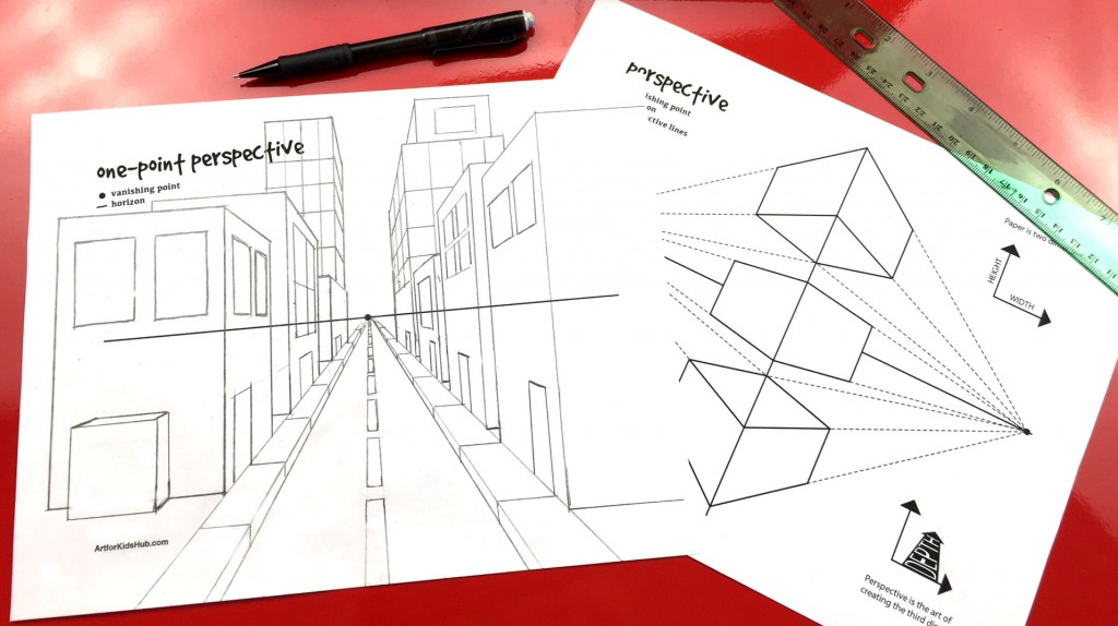 Perspective Basics – One-Point Perspective (Art Club Members)