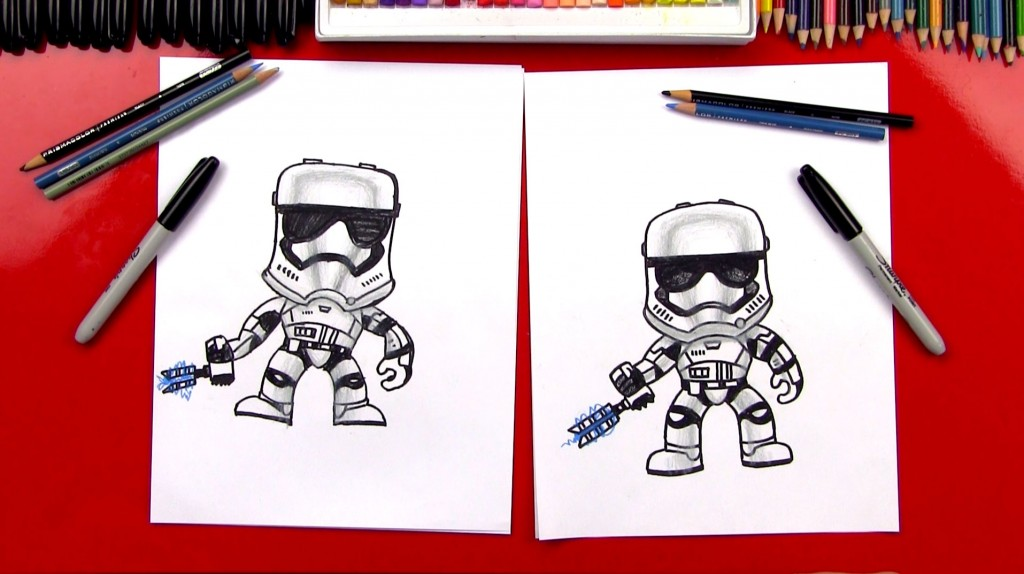 How To Draw A POP! Stormtrooper FN-2199