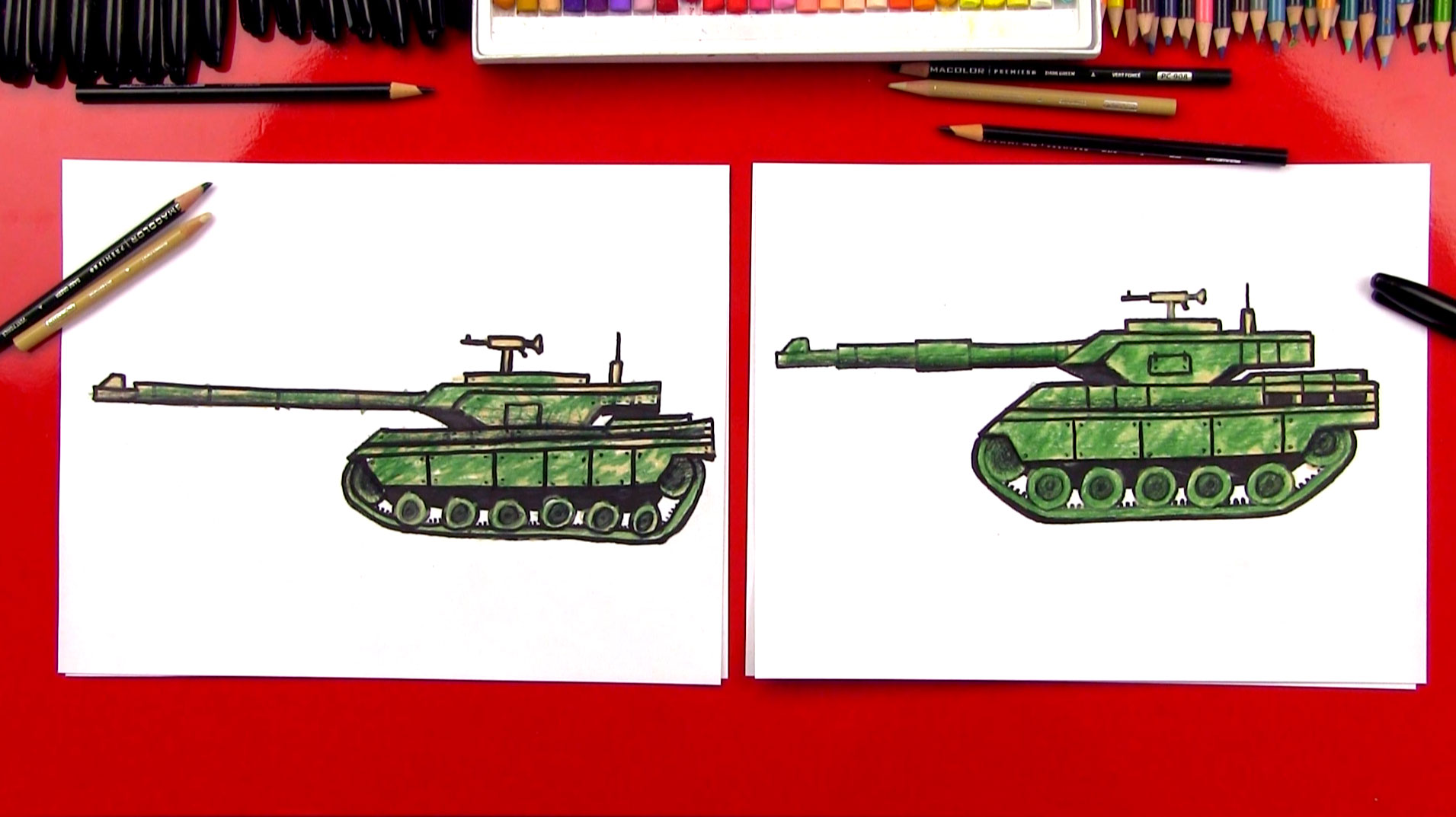 How To Draw A Realistic Tank - Art For Kids Hub