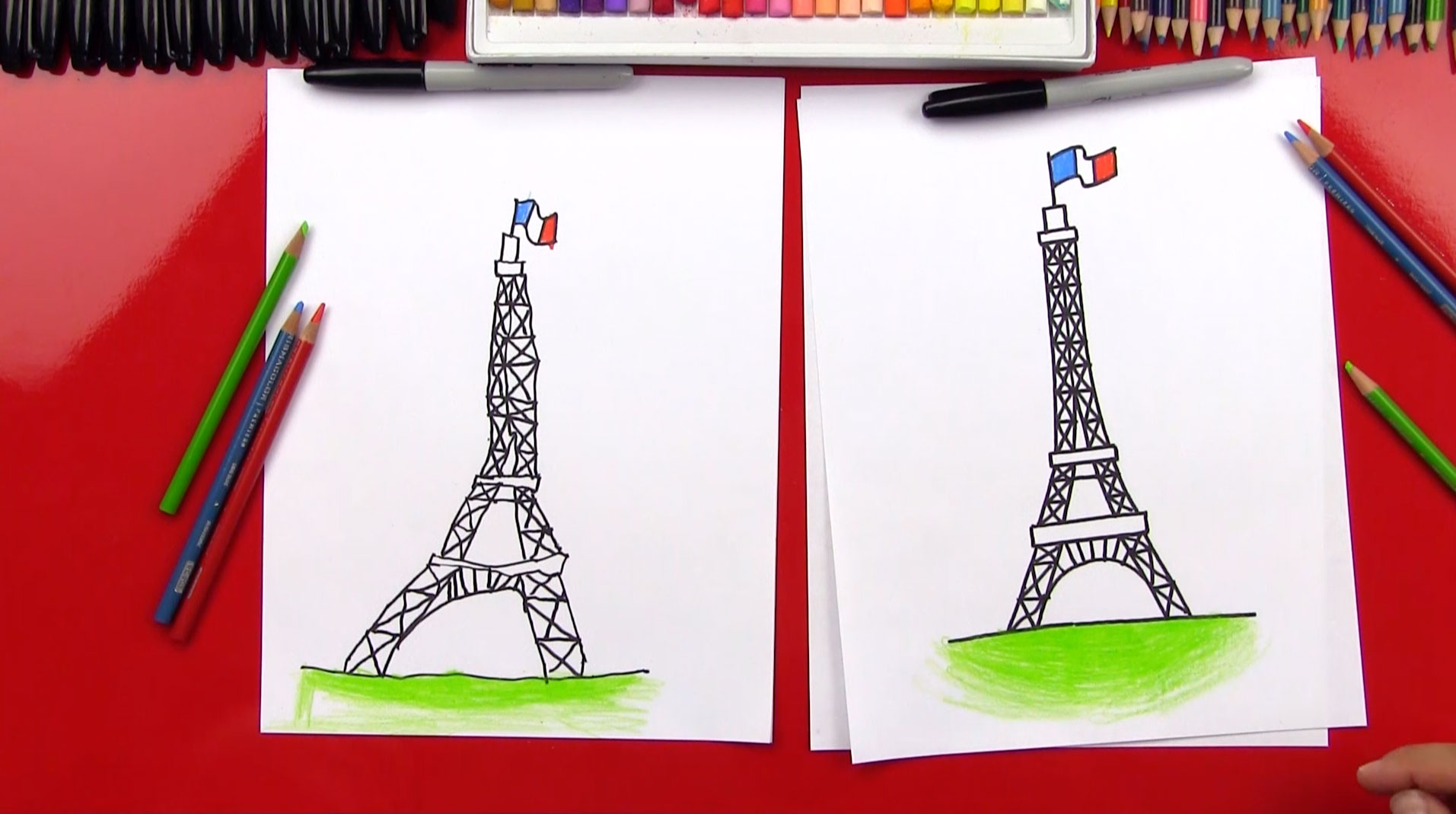 how to draw the eiffel tower art for kids hub