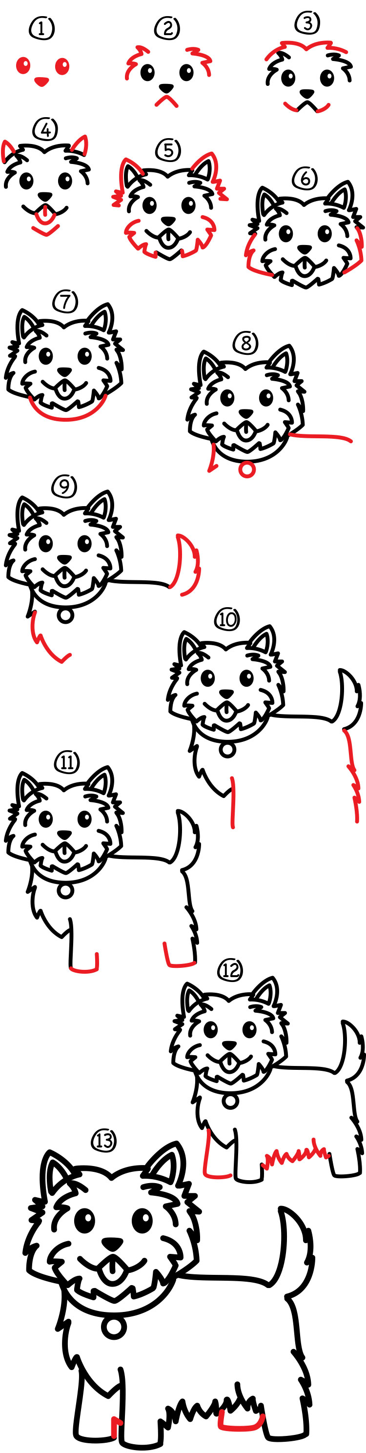 how to draw a dog art hub