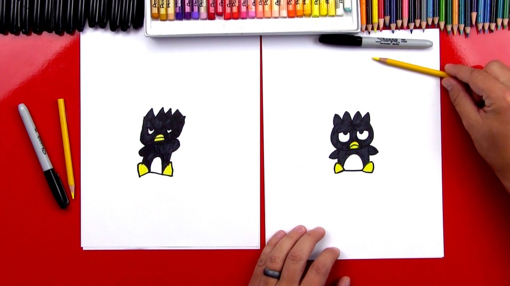 How To Draw Badtz-Maru From Hello Kitty