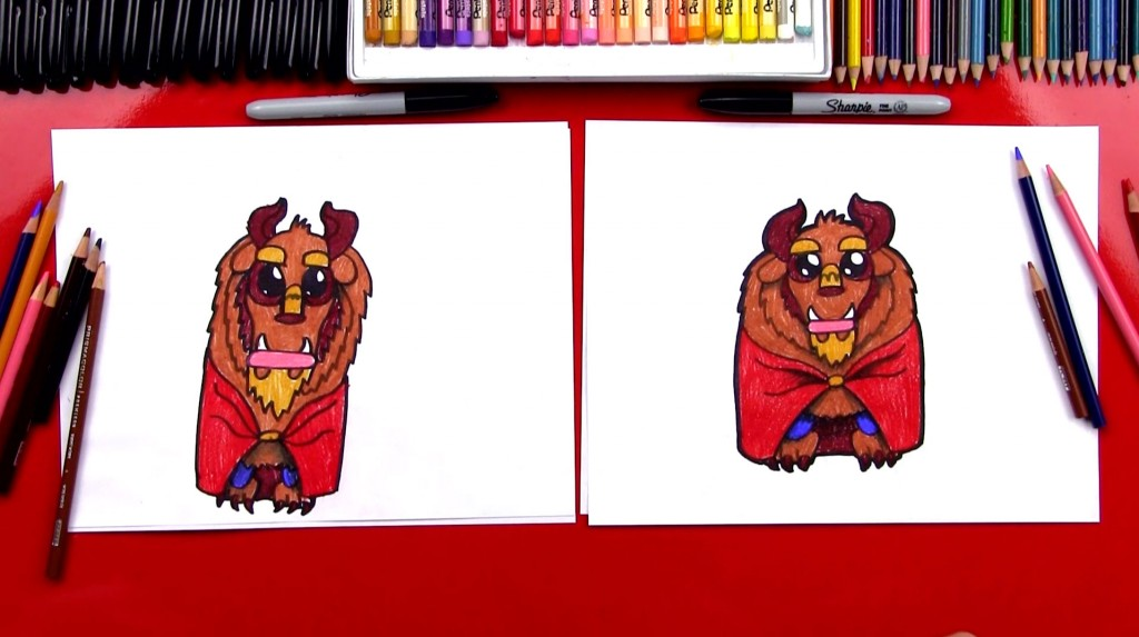 How To Draw Cartoon Beast From Beauty And The Beast