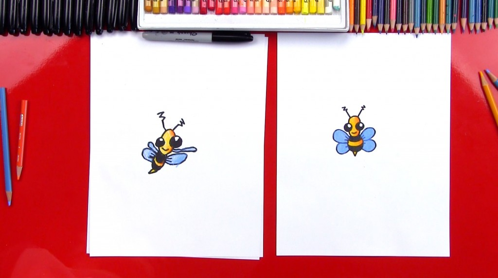 How To Draw A Cartoon Bee Plus Shading (Art Club Members)