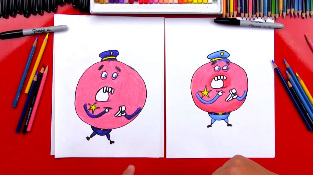 How To Draw Donut Cop From Gumball
