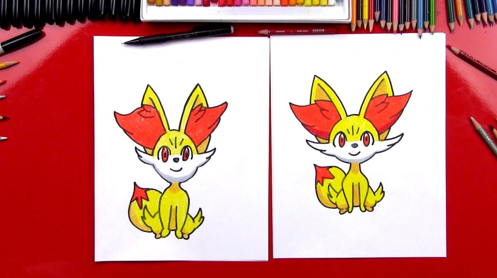 How To Draw Fennekin Pokemon
