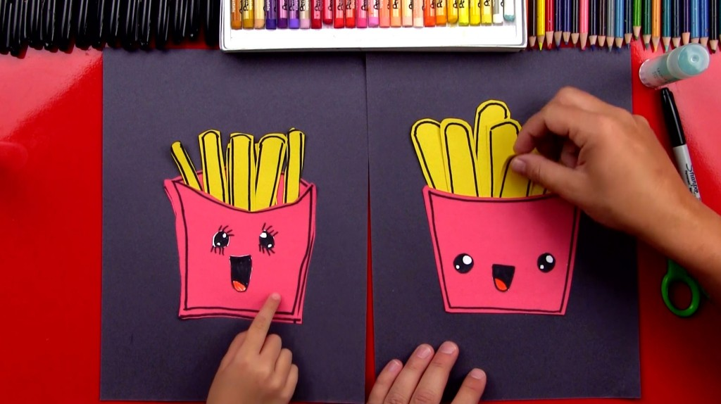 How To Draw French Fries (Cutout)