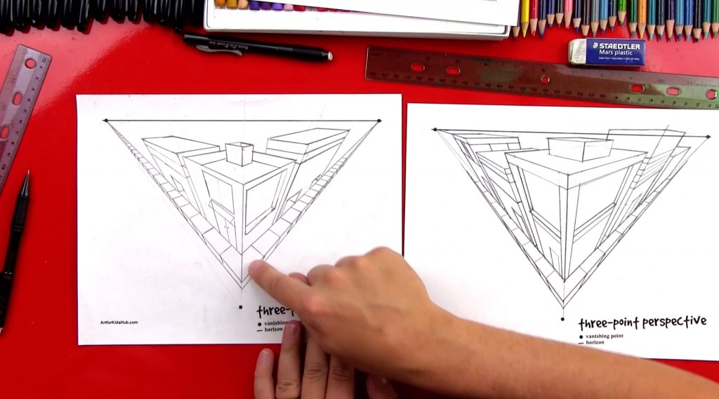Perspective Basics – Three-Point Perspective (Art Club Members)