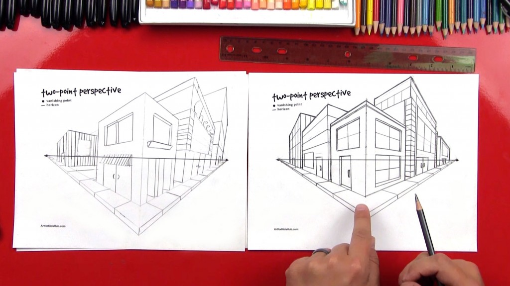 Perspective Basics – Two-Point Perspective (Art Club Members)