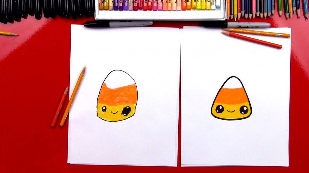 How To Draw A Candy Corn