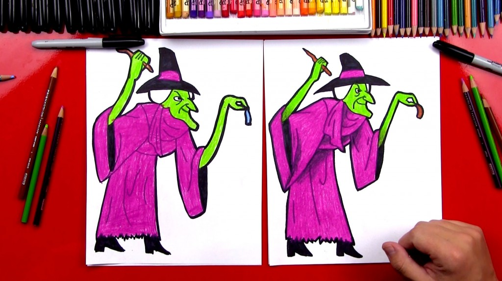 How To Draw A Witch From Scooby Doo