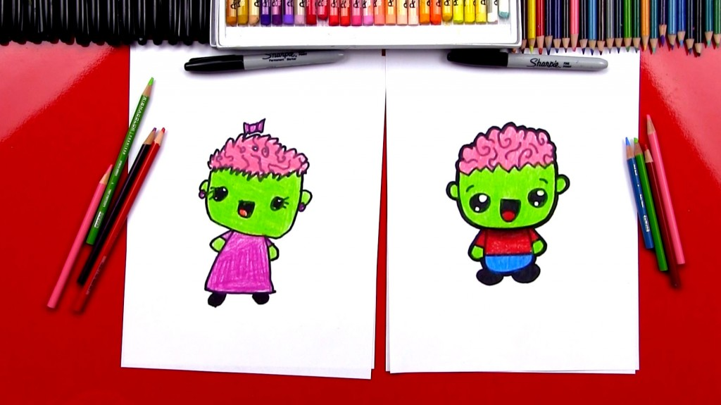 How To Draw A Cartoon Zombie