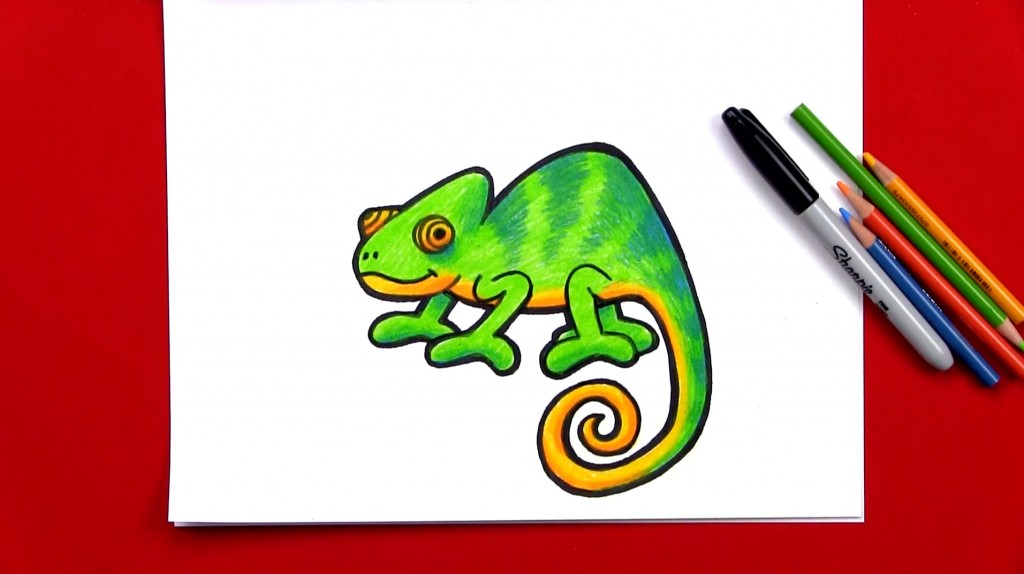 How To Draw A Chameleon (Art Club Members)