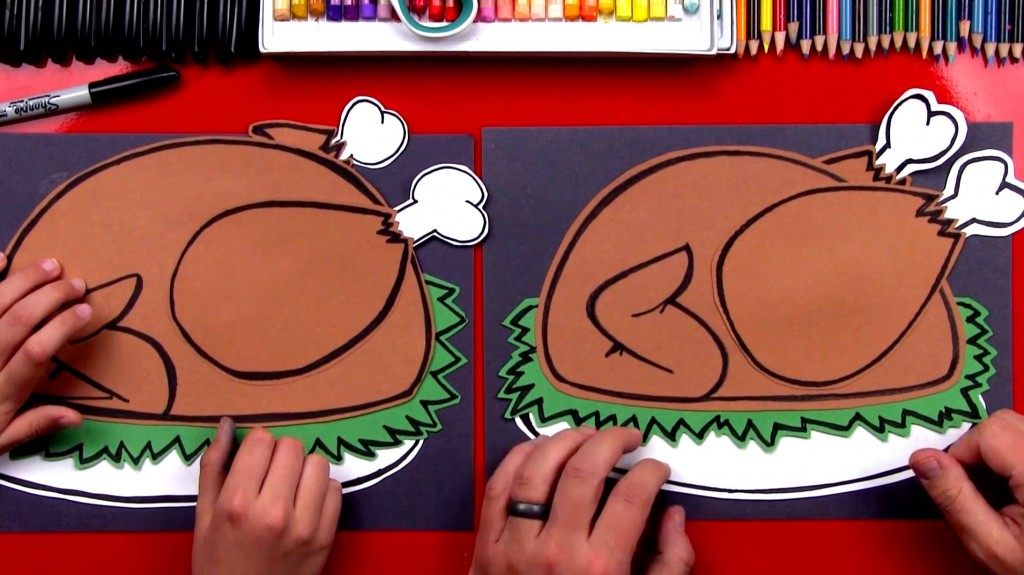 How To Draw A Cooked Turkey (Cutout)
