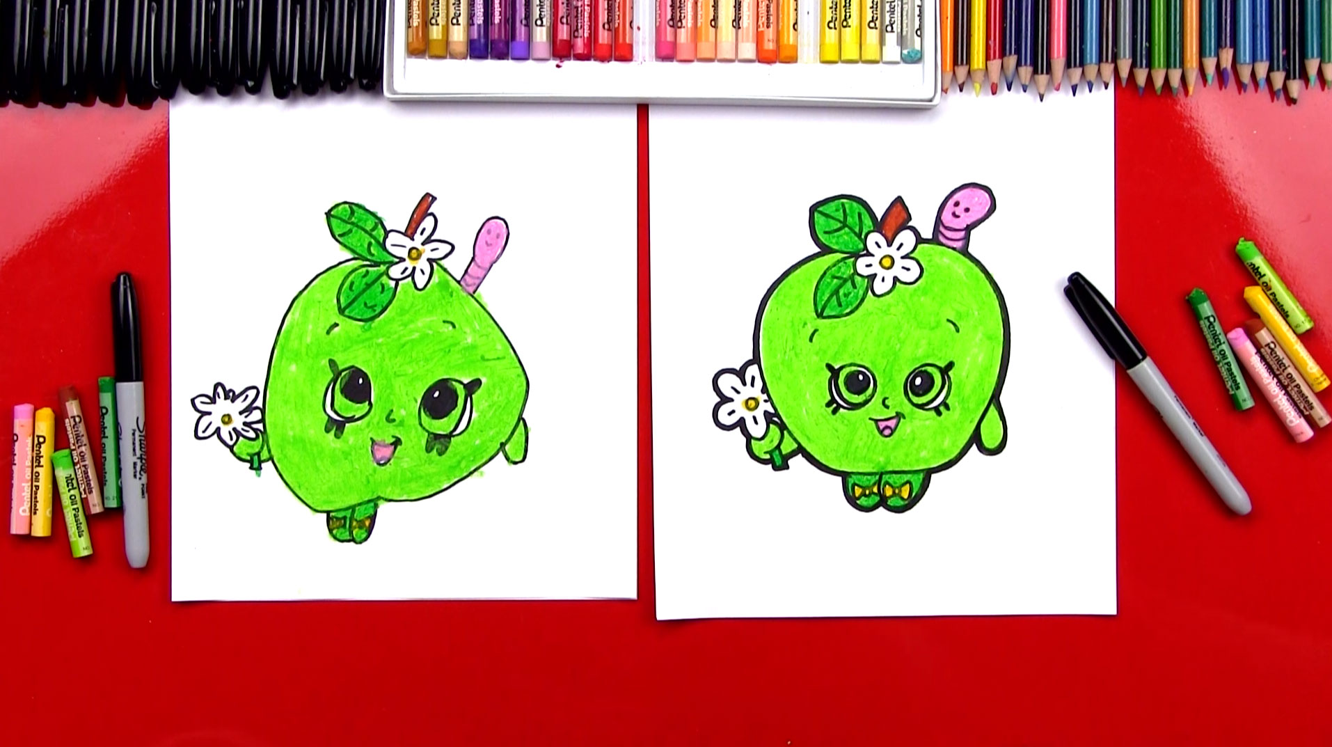 how to draw apple blossom shopkins art for kids hub