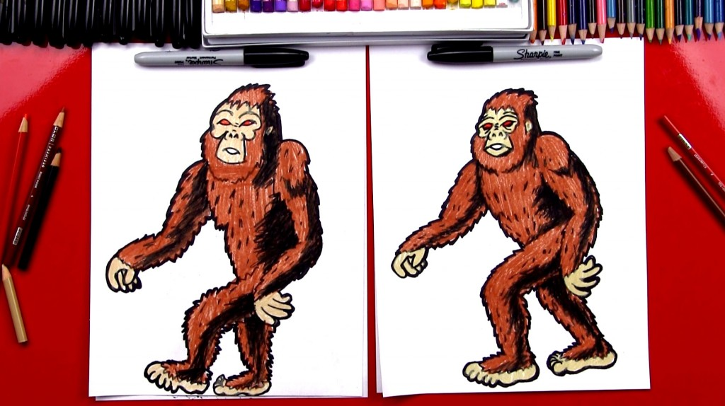 How To Draw Big Foot (Sasquatch)