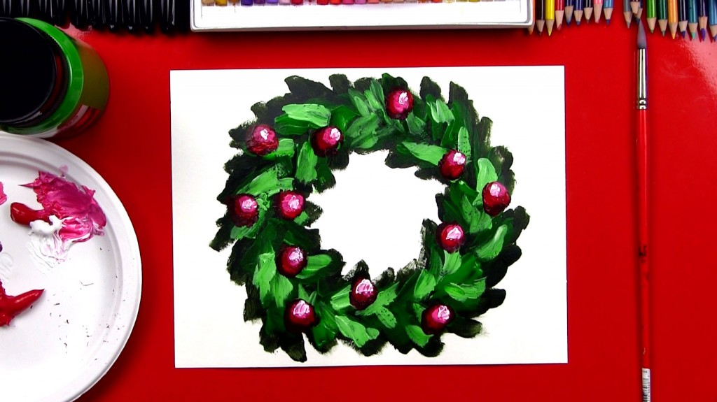 How To Paint A Christmas Wreath + The Secret To Painting (Art Club Members)