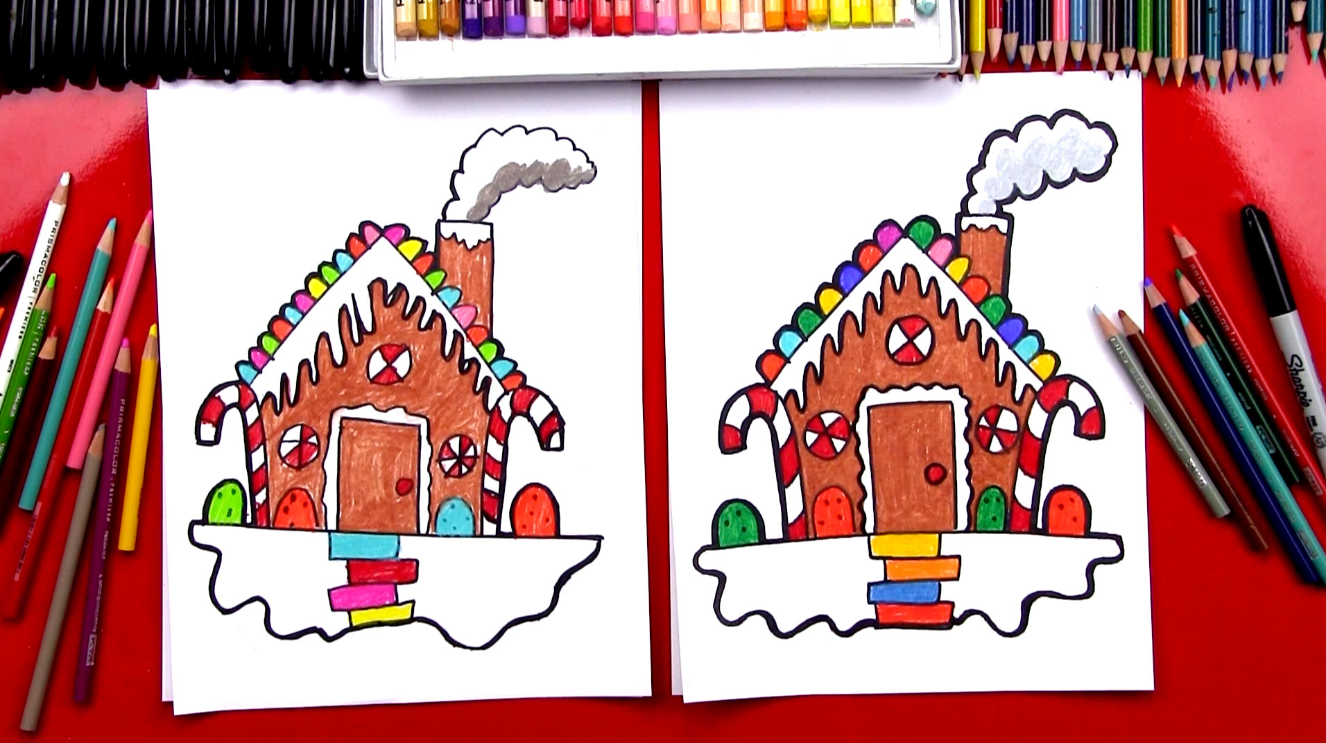 How To Draw A Gingerbread House , Art For Kids Hub ,