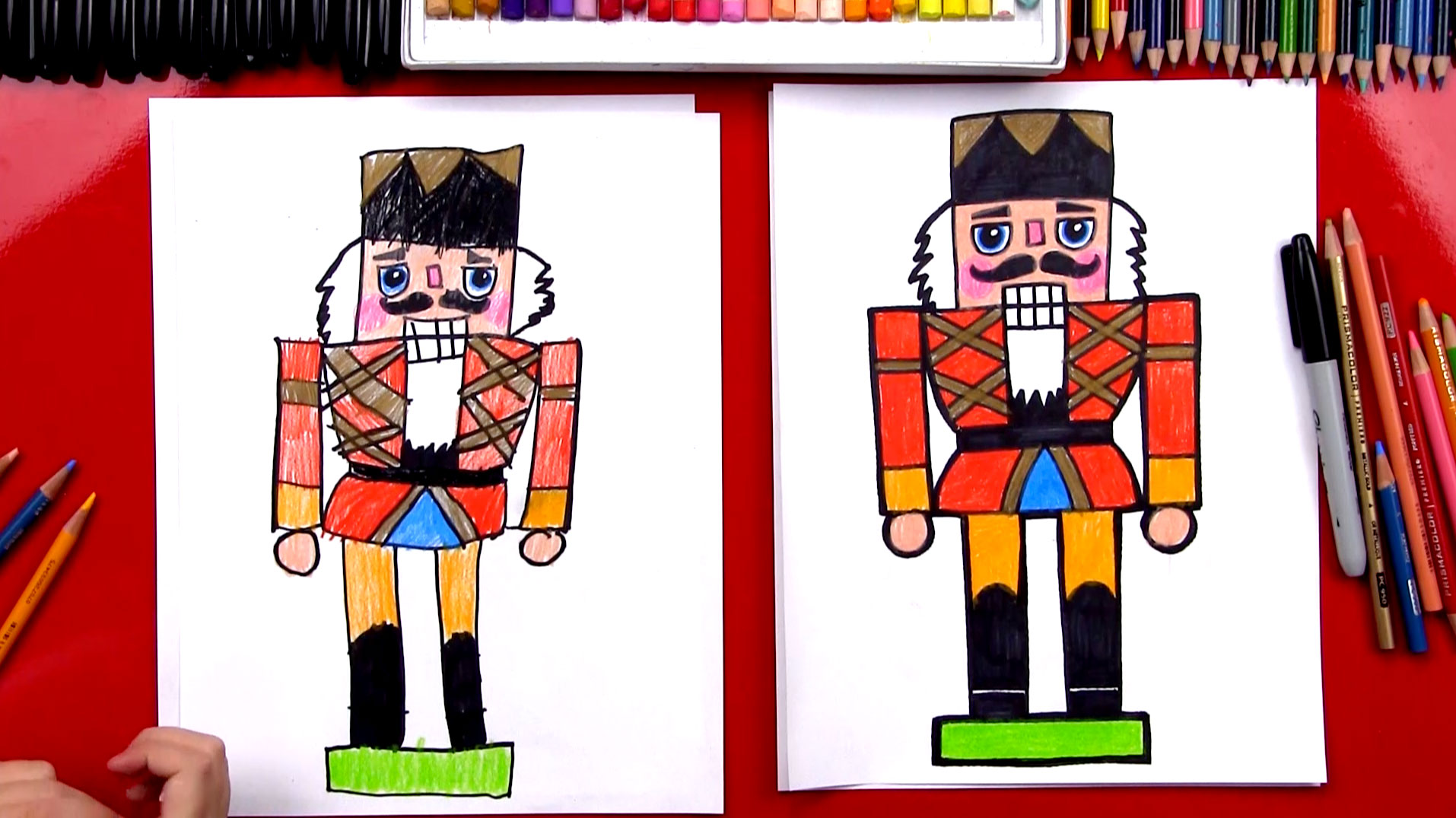 how to draw a christmas nutcracker
