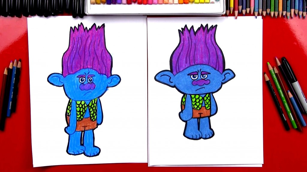 How To Draw Branch From Trolls