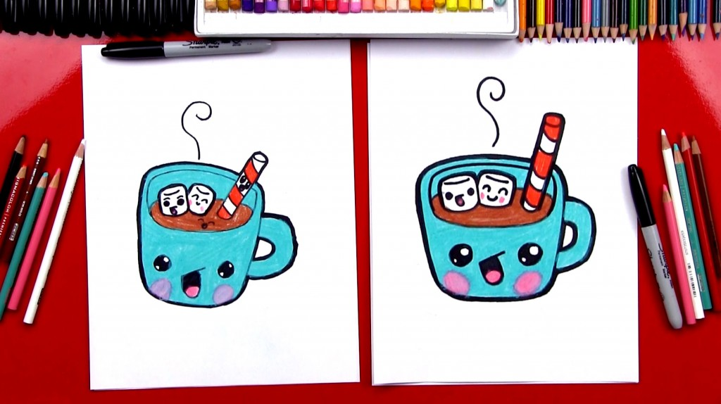 How To Draw Cartoon Hot Chocolate
