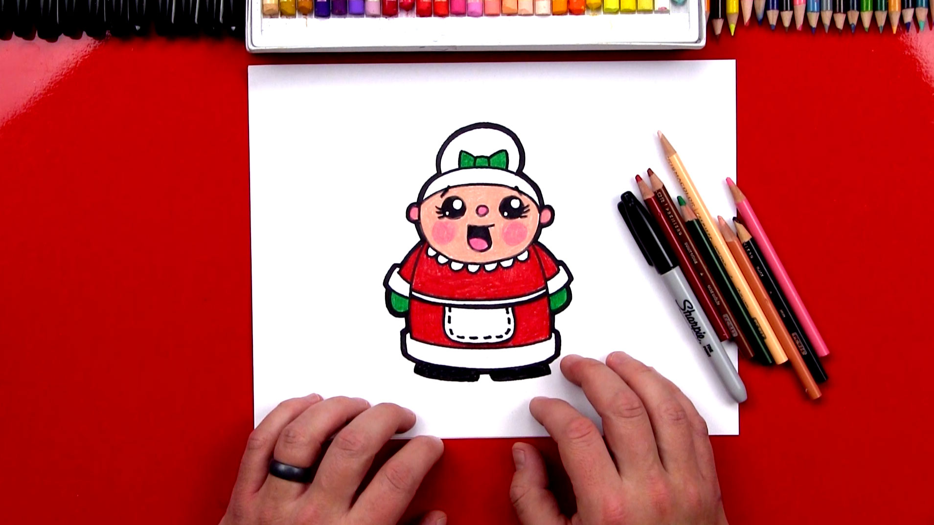 How To Draw Cartoon Mrs Claus