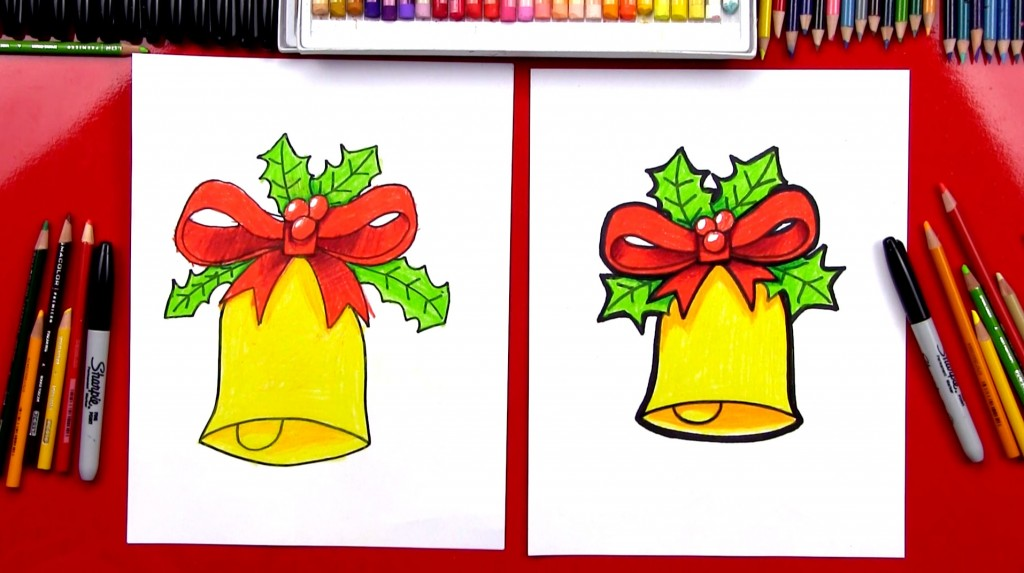 How To Draw A Christmas Bell (Art Club Members)