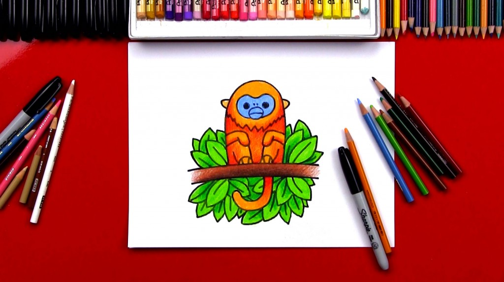 How To Draw A Golden Monkey