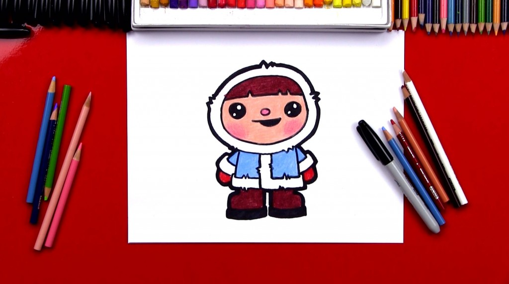 How To Draw A Winter Kid