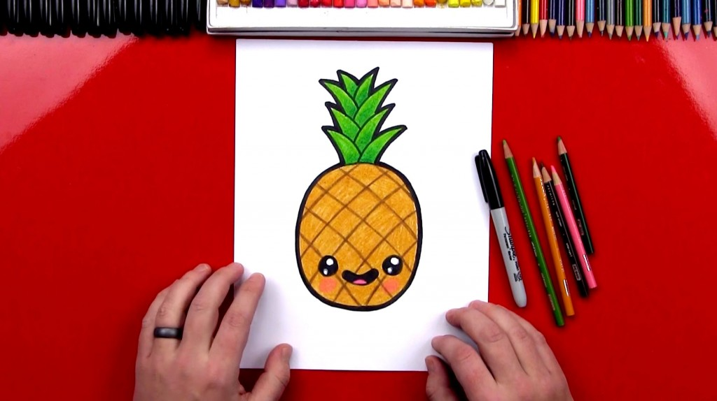 How To Draw A Funny Pineapple
