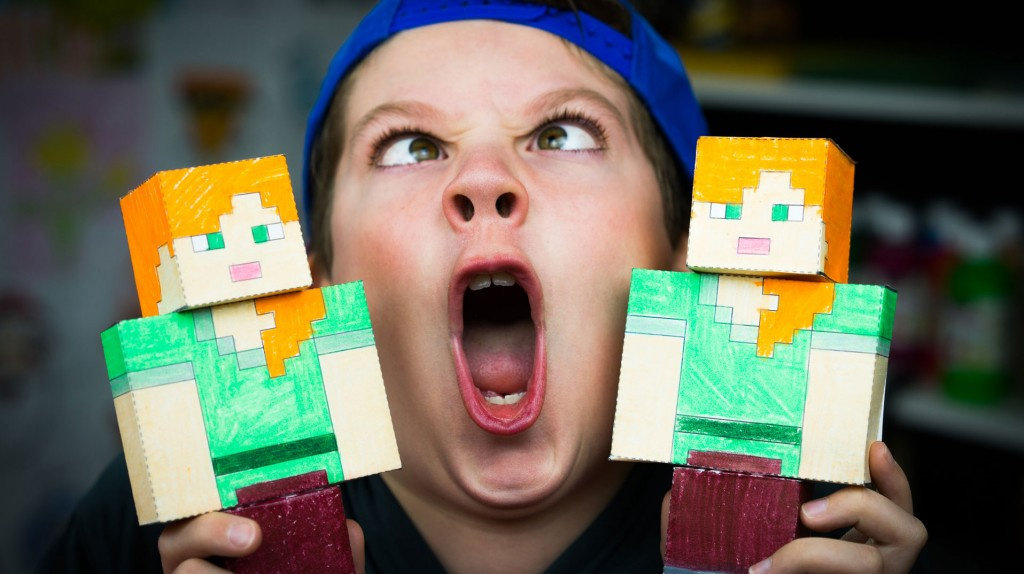 How To Make A Papercraft Alex From Minecraft