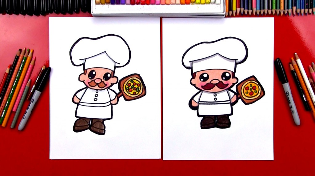 How To Draw A Cartoon Chef