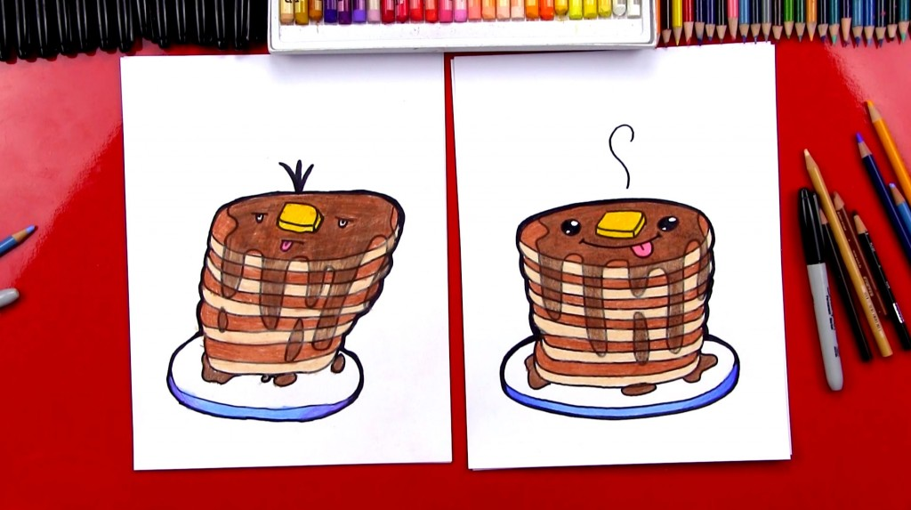 How To Draw Funny Pancakes