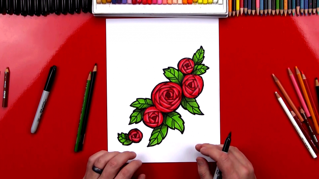Valentine's Day Archives - Art For Kids Hub How To Draw A Rose For Mothers Day