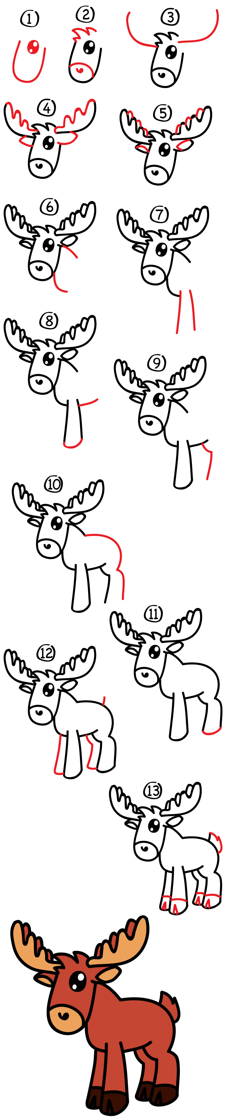 How to draw a cartoon moose art for kids hub thecheapjerseys Gallery