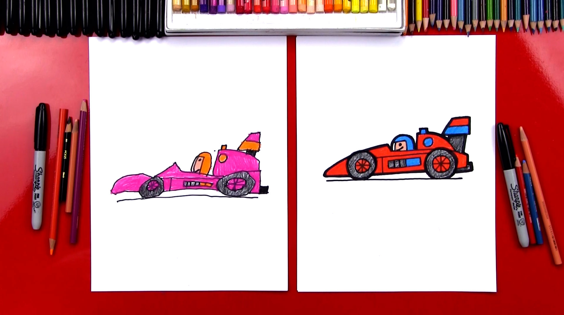how to draw a race car for young artists art for kids hub